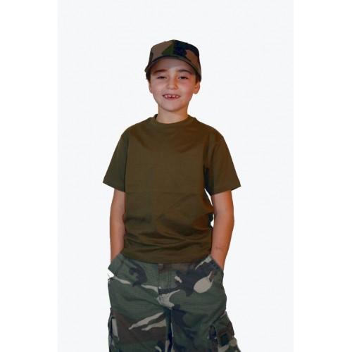 T-shirt enfant kaki