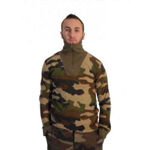 Chemise F1 polaire camouflage avec col coton