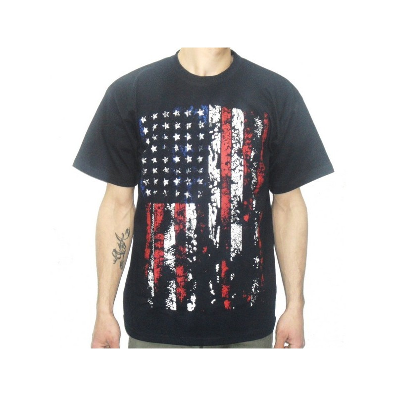 Tee shirt américain bleu marine