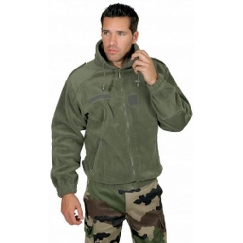 Veste polaire militaire kaki