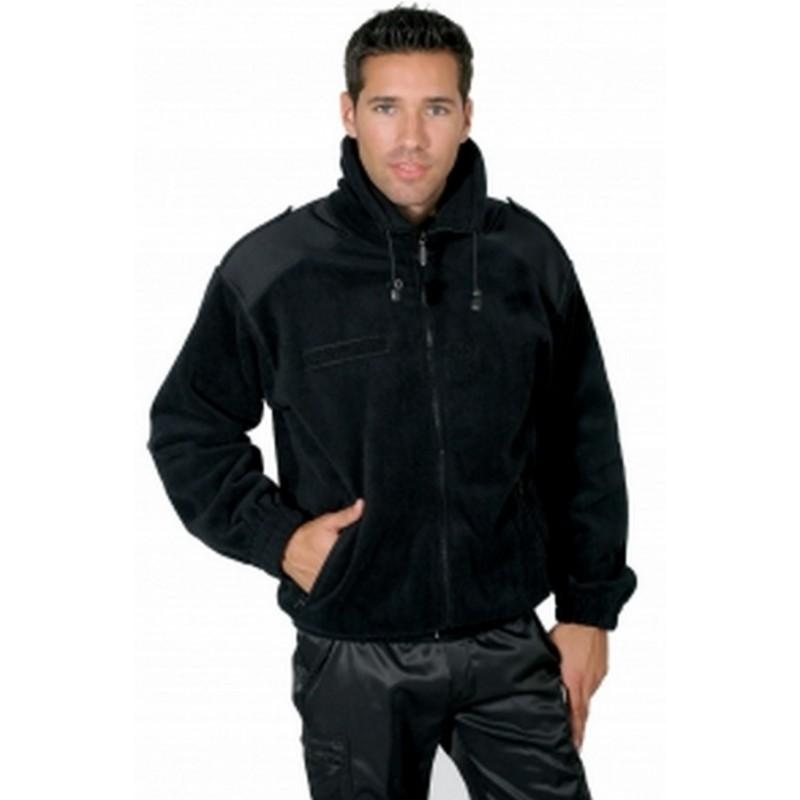 Veste blouson militaire polaire noir.