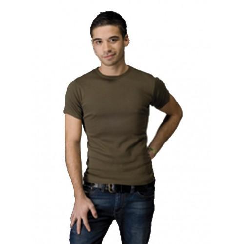 T-shirt moulant kaki ou noir