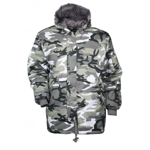 Parka Dubon camouflage urbain gris