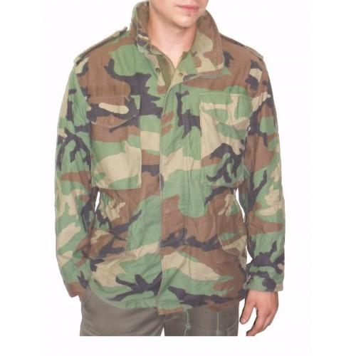 Veste M65 original us camouflage woodland