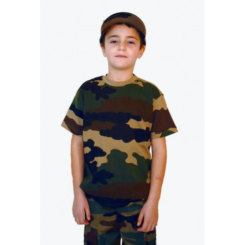 T-shirt enfant camouflage centre europe