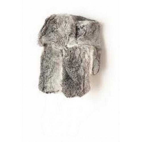 Chapka fourrure grise