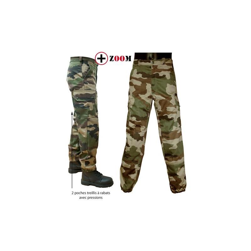 dd6be7c21ca65 Pantalon treillis militaire F2 camouflage centre europe armée française -  Surplus Le Casque Bleu